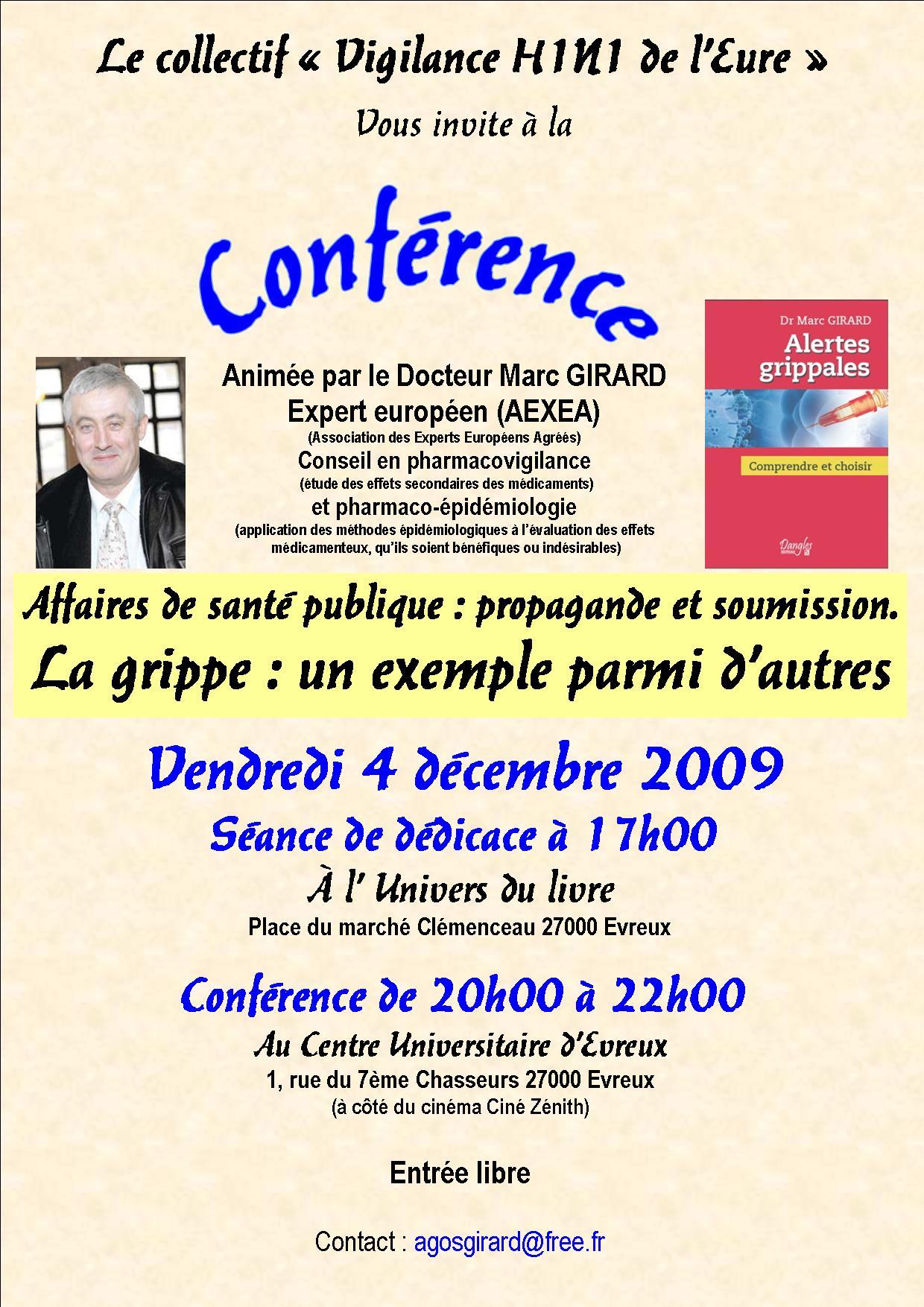 Conférence Evreux - Conférence-débat à Evreux (27000) - Dr Marc Girard